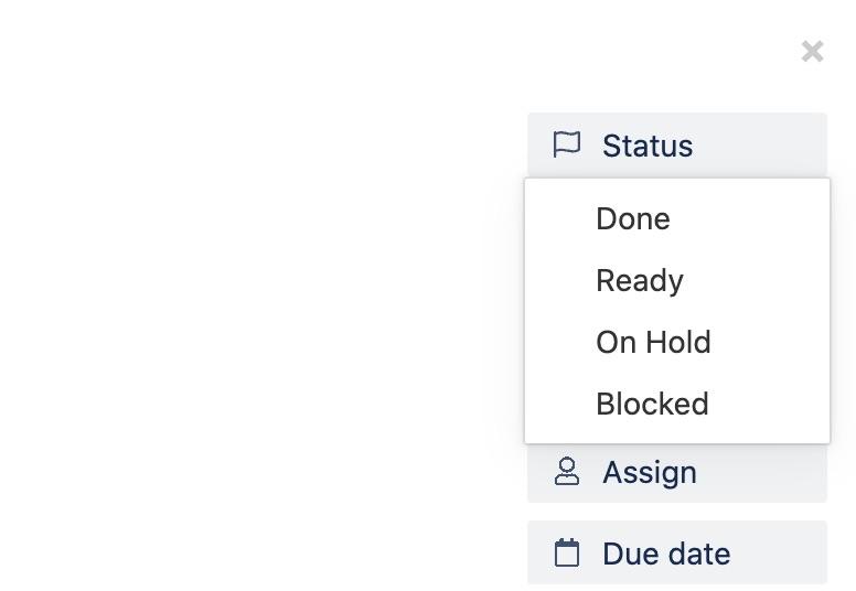 Task statuses