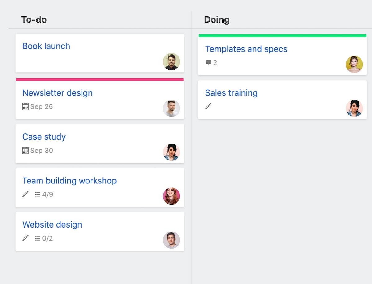 Project board tasks