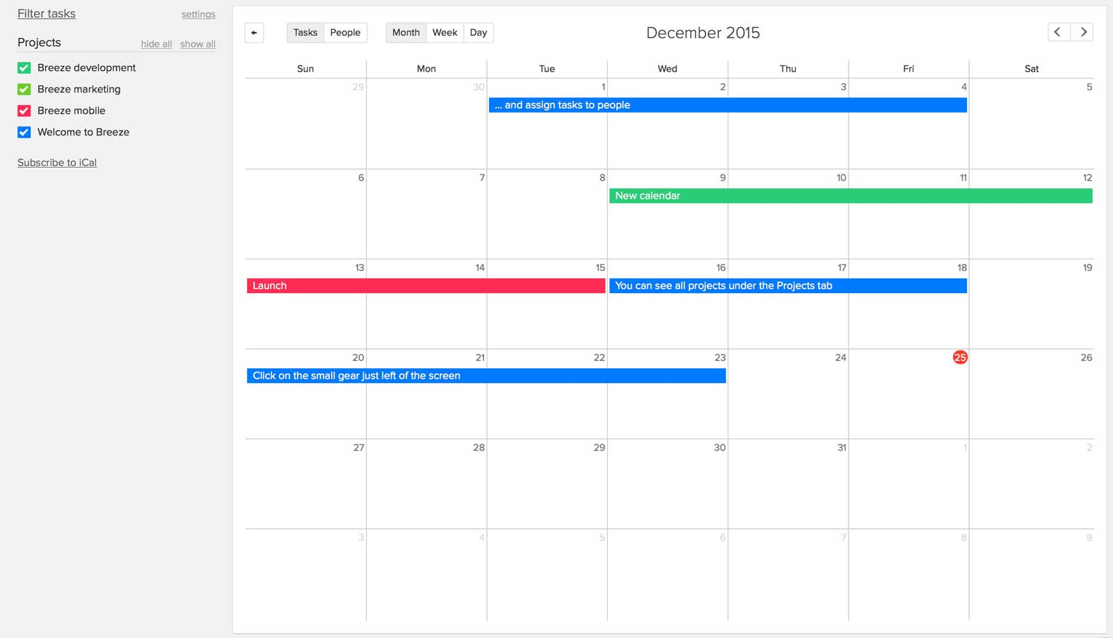 project management software and collaboration tool breeze calendars and resource management